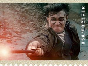 One of the Harry Potter stamp designs, as published in USA Today, 11/12/13.
